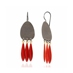 IGMSHOP-Vally Contidis-Iaolian Carmine Red Earrings-S