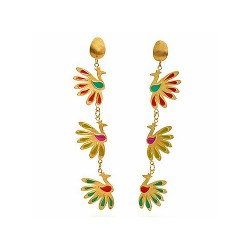 IGMSHOP-Vally Contidis-Imperial Gold Peacocks Earrings-S