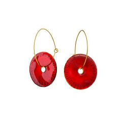 IGMSHOP-Vally Contidis-Red Wine Disc Earrings-S